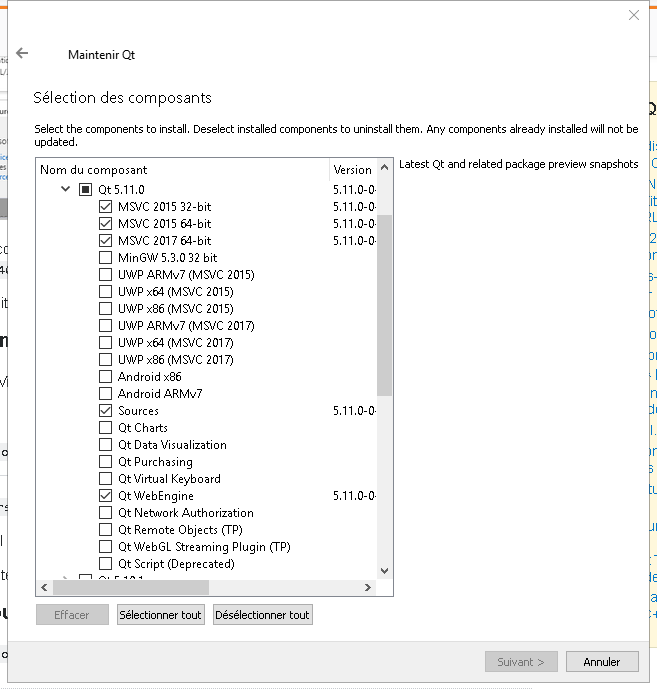 How to compile Qt webengine (5 11) on Windows with